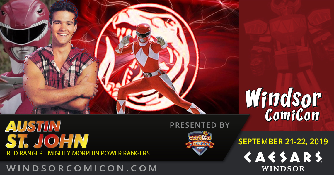 Red Power Ranger AUSTIN ST. JOHN to attend Windsor ComiCon 2019