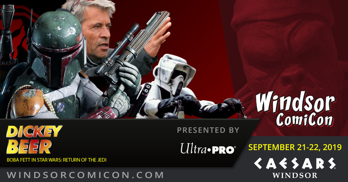 Star Wars Return of the Jedi's Boba Fett Dickey Beer to attend Windsor ComiCon 2019