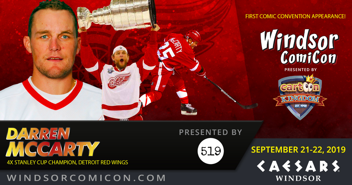 4X Stanley Cup Champion Darren McCarty to attend Windsor ComiCon 2019