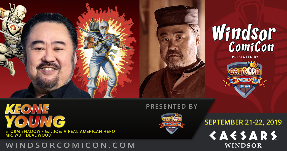 Actor KEONE YOUNG the voice of Storm Shadow to attend Windsor ComiCon 2019