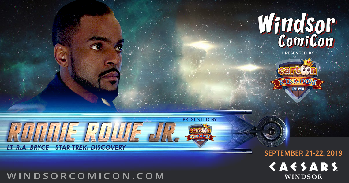 Star Trek Discovery actor Ronnie Rowe Jr. to attend Windsor ComiCon 2019
