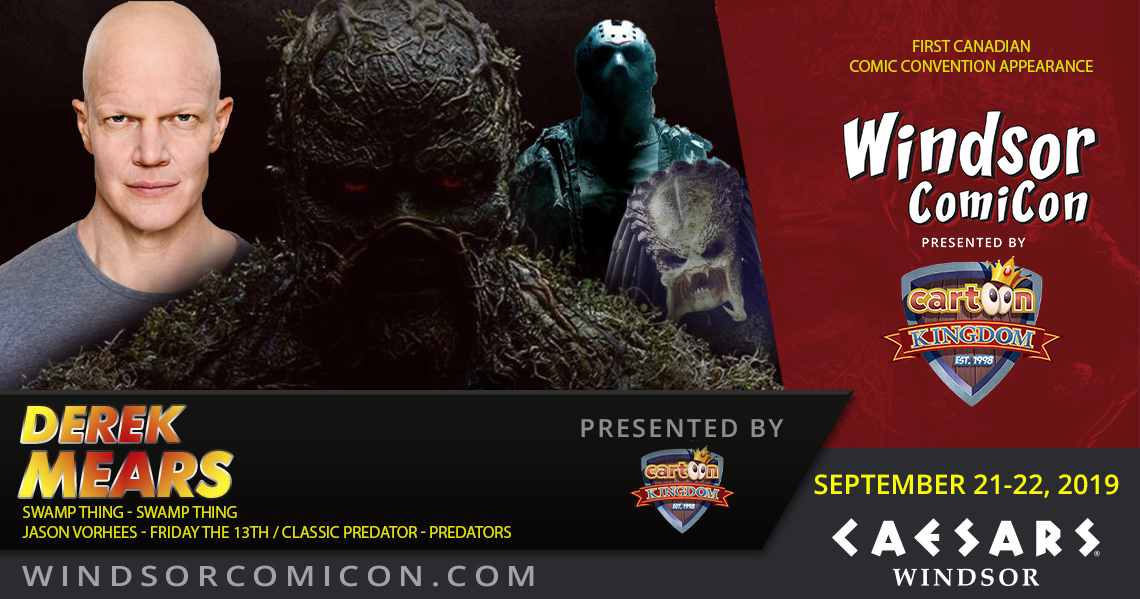 Swamp Thing actor Derek Mears to attend Windsor ComiCon 2019