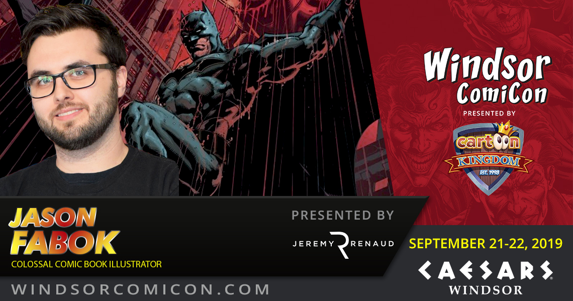 Comic book artist Jason Fabok to attend Windsor ComiCon 2019
