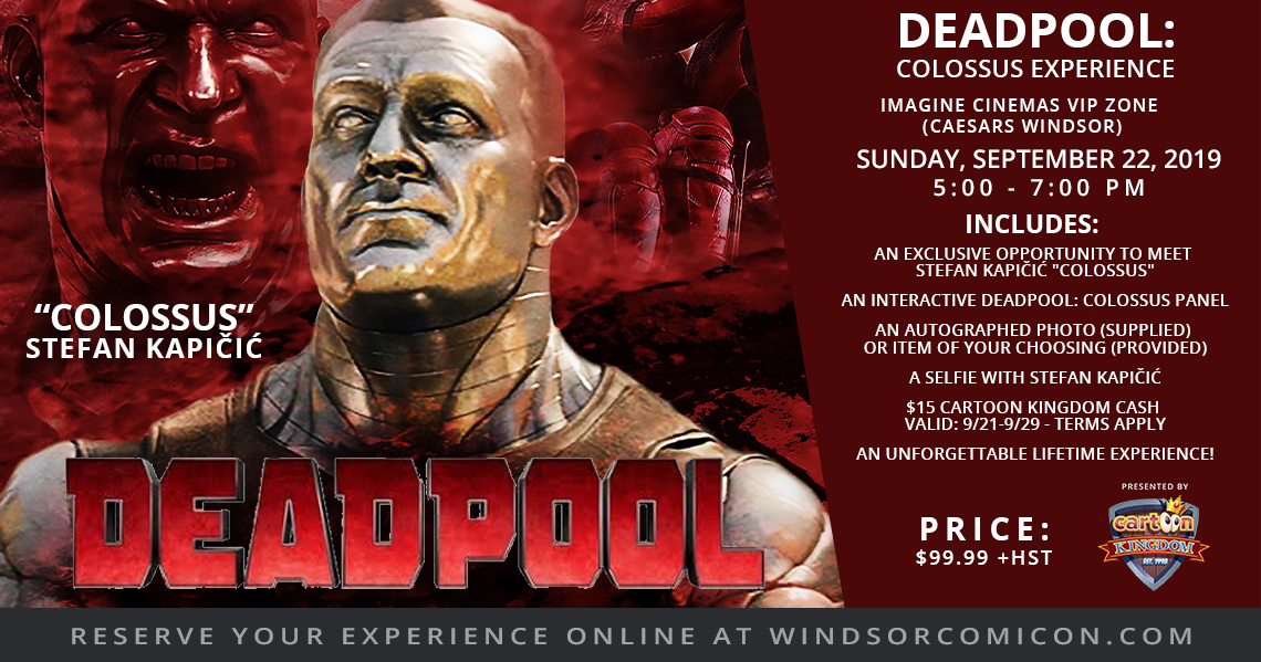 COMICON TO LAUNCH THE DEADPOOL: COLOSSUS EXPERIENCE