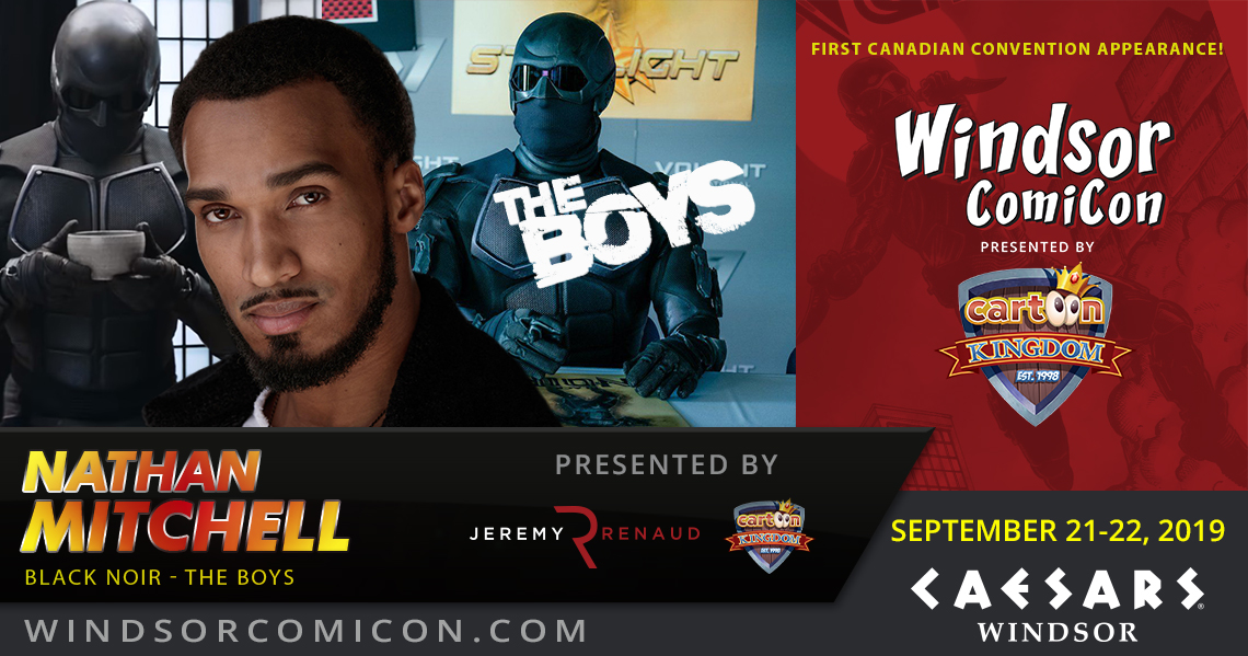 The Boys Black Noir actor Nathan Mitchell to attend Windsor ComiCon 2019