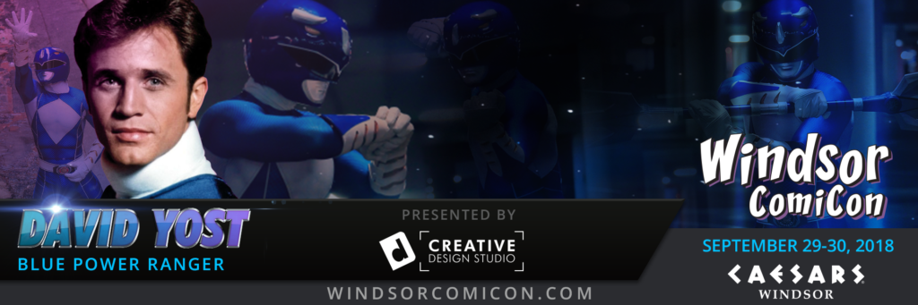 Power Ranger DAVID YOST to attend Windsor ComiCon 2018