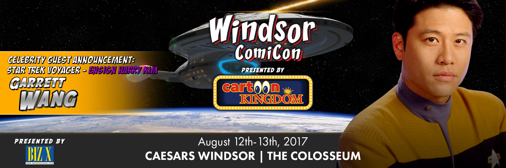 Garrett Wang from Star Trek Voyager to attend Windsor ComiCon 2017