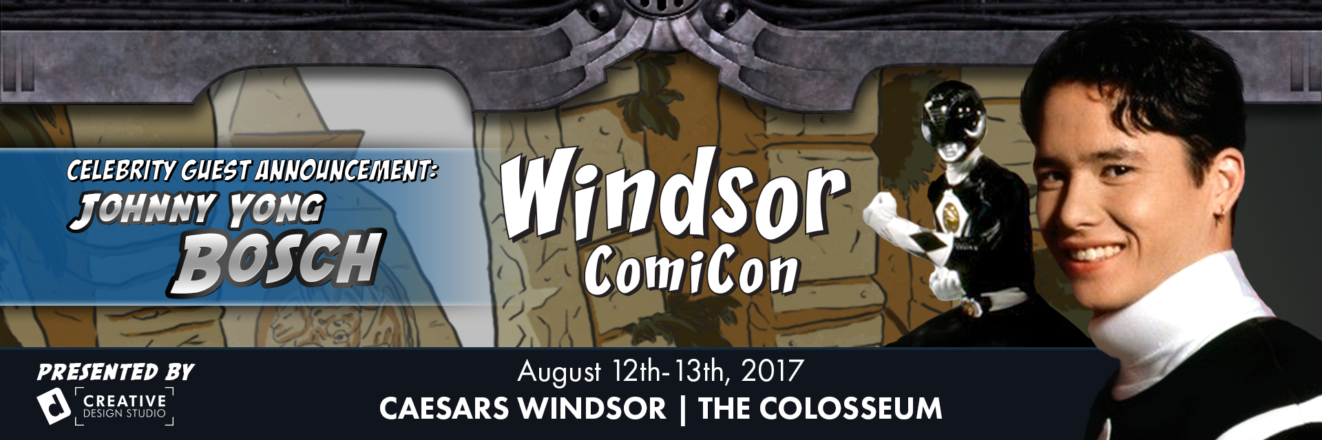 Johnny Yong Bosch from Power Rangers to attend Windsor ComiCon 2017