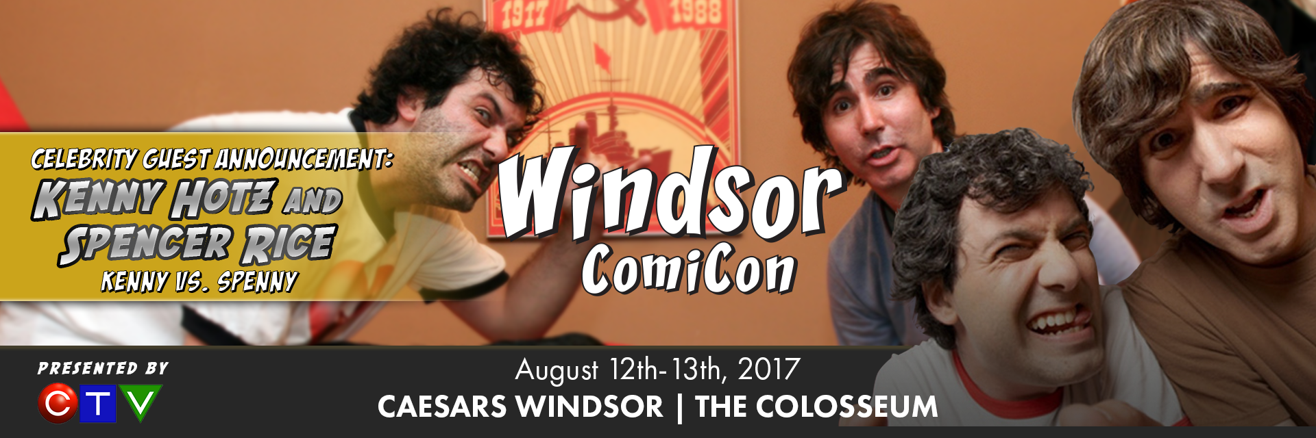 Kenny Hotz and Spencer Rice to attend Windsor ComiCon 2017