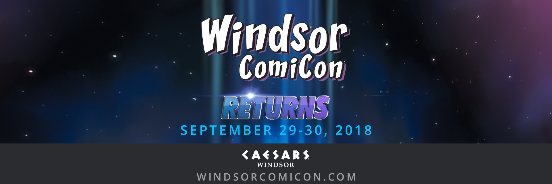 WINDSOR COMICON 2018 ANNOUNCED FOR SEPTEMBER 29-30